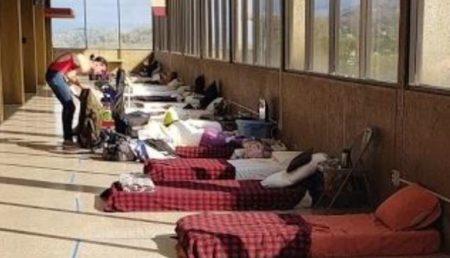 Shelter scene