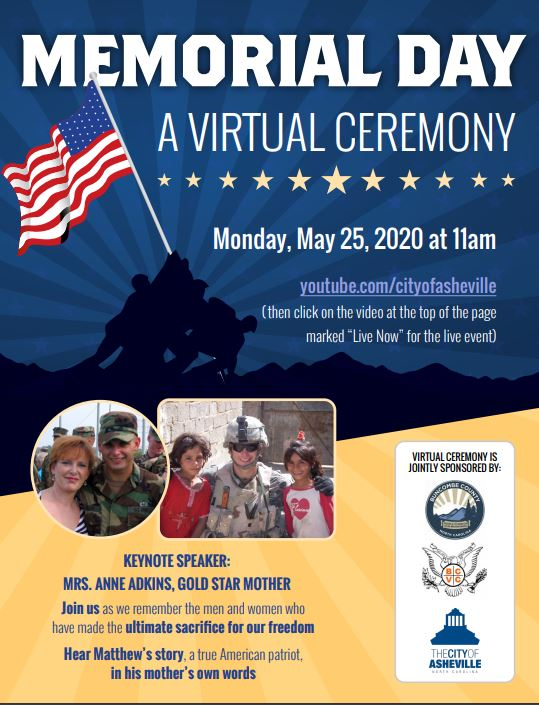 Memorial Day ceremony flier 2020