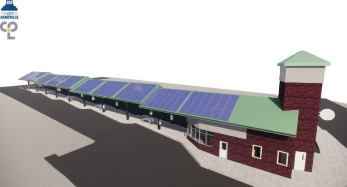solar panels on roof rendering