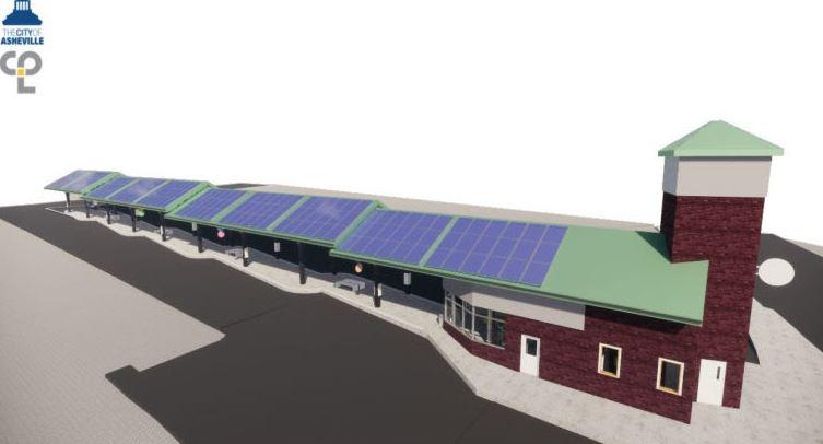 solar panels on roof rendering
