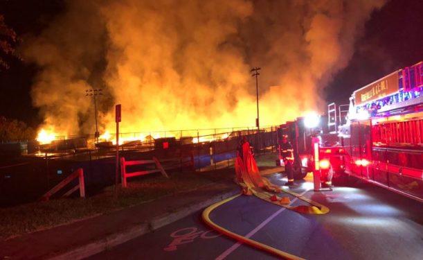 Hilliard Ave fire