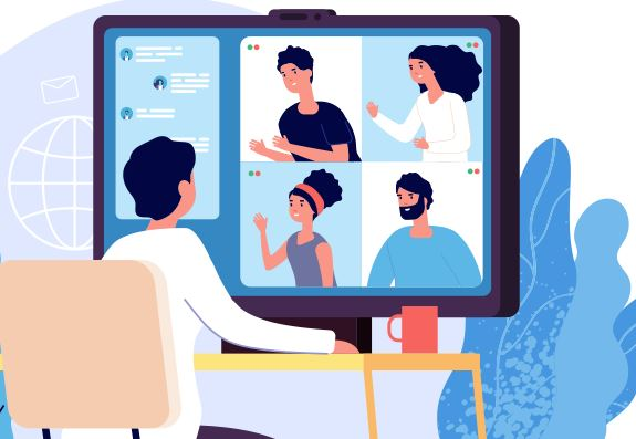 remote meeting illustration