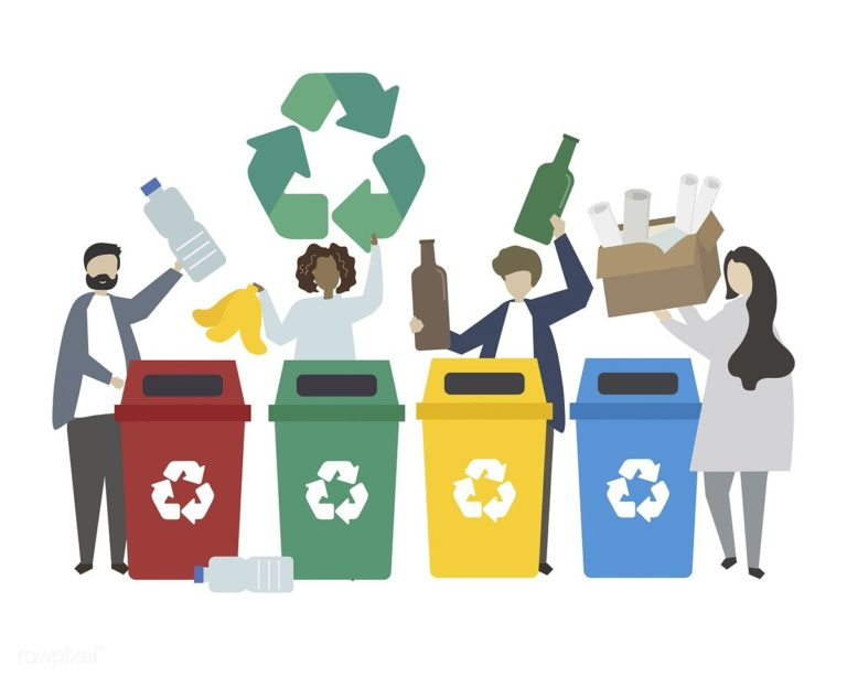 Recycle right illustration
