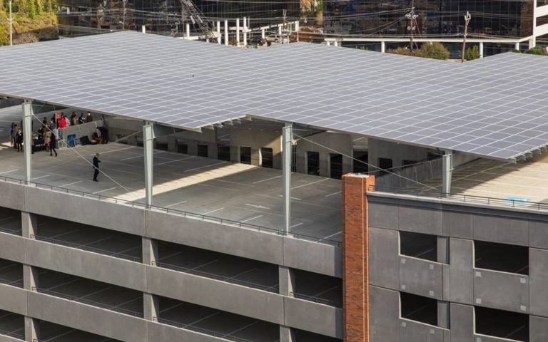 solar rooftop array