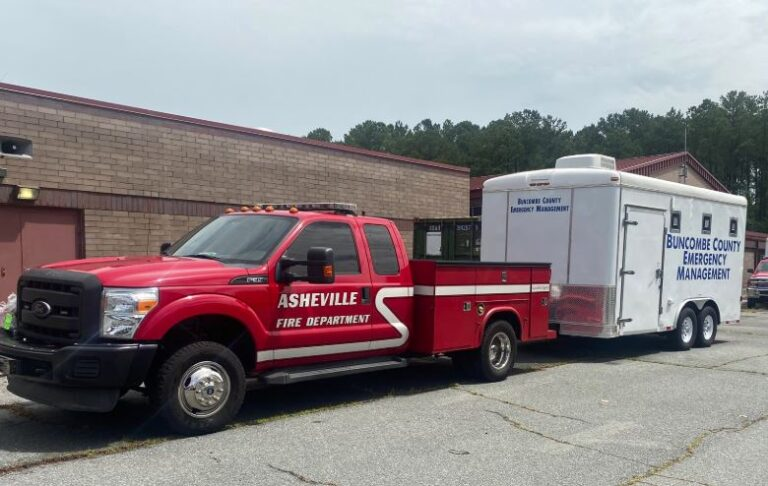 AFD rescue truck and trailer