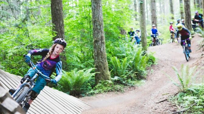 Outdoors bike skills course