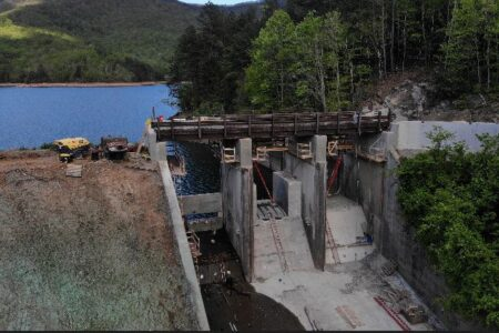 dam gates and chute improvements