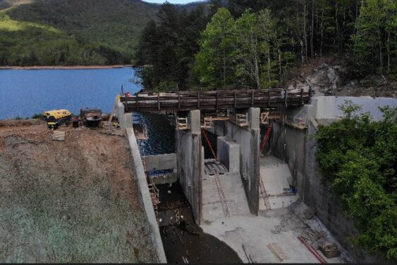 dam gates and chute improvements
