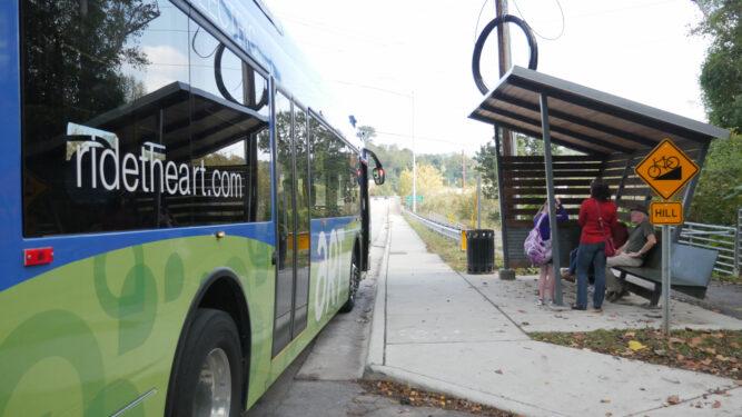 Asheville Bus shelter