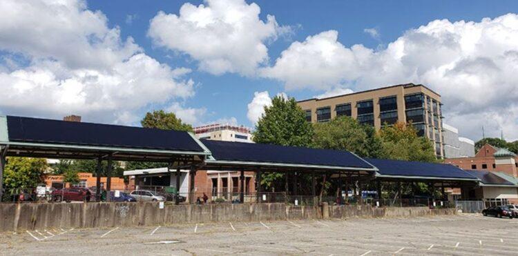 Transit Station solar panels