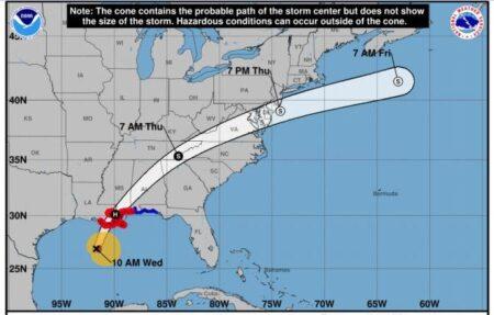 Zeta storm track