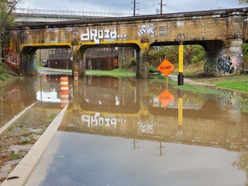 flooded Riverside Drive