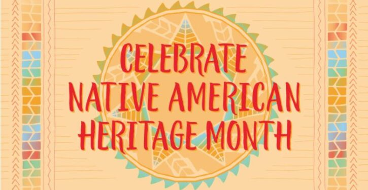 Native heritage month graphic