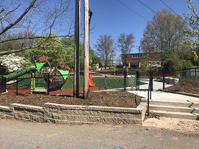 Augusta Barnett Playground after construction