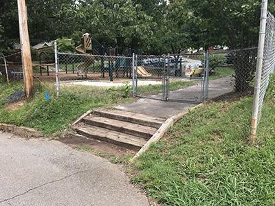 Augusta Barnett playground before construction