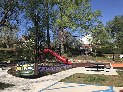 Leah Chiles Playground after construction