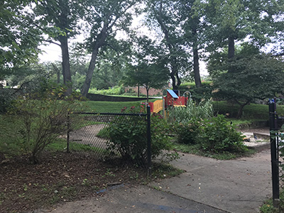 Leah Chiles Playground before construction