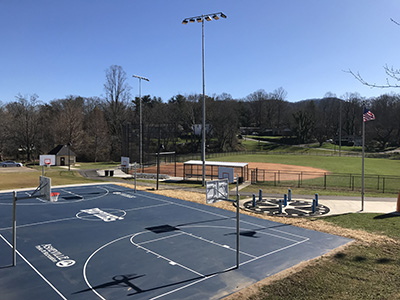 Shiloh court and ballfield after renovation