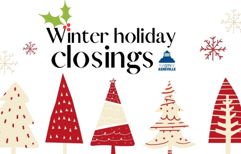 Winter holiday closings graphic