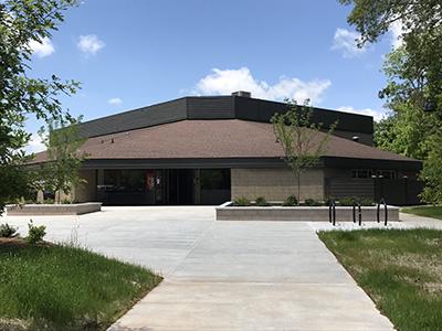Tempie Avery Montford Center entrance after construction