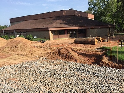 Tempie Avery Montford Center before entrance renovation