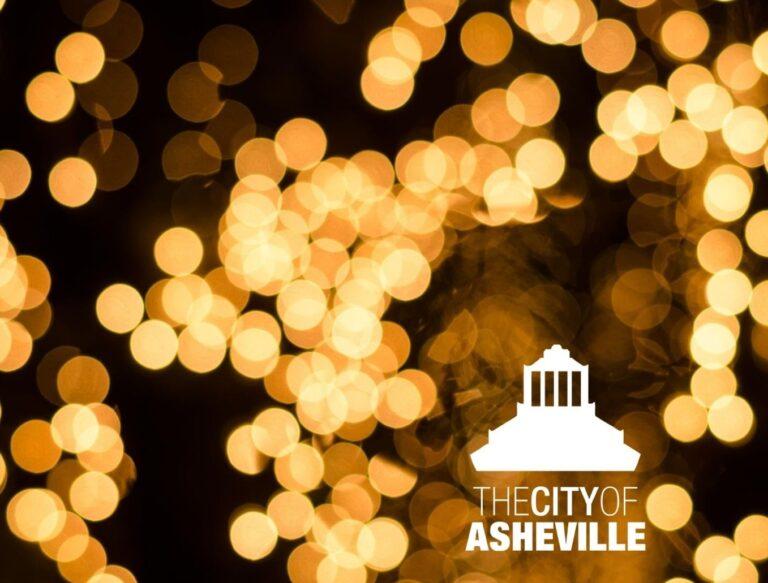 Amber City Hall lights