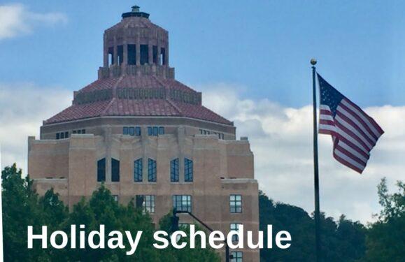 Asheville holiday schedule photo illustration