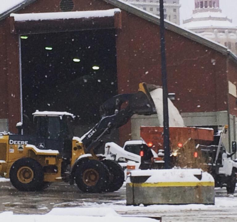 Asheville snow prep salt public works