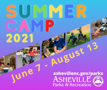 Asheville Summer Camp 2021 poster