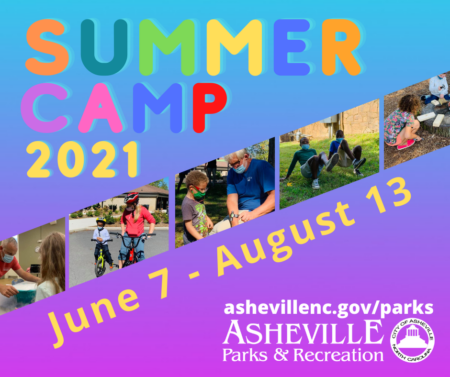 Asheville Summer Camp 2021 poster