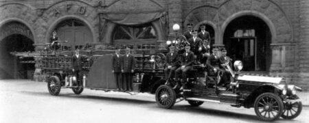 Asheville fire first motorized truck