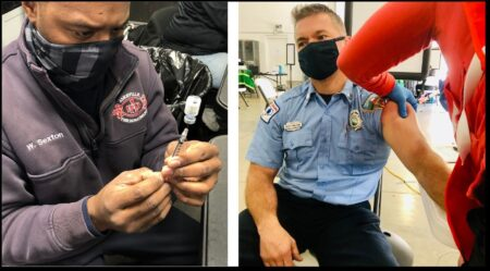 Asheville firefighter vaccinations
