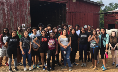 CAYLA students at horse farm