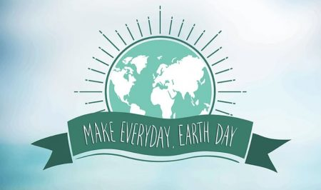 Asheville Earth month graphic