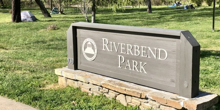 Asheville Riverbend Park sign