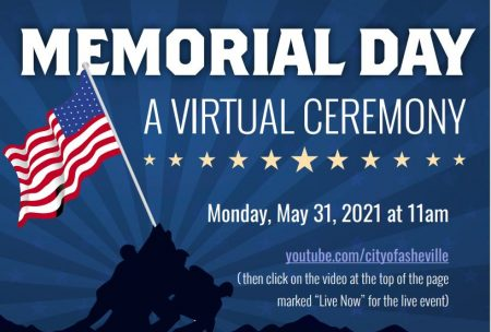 Memorial day Asheville graphic