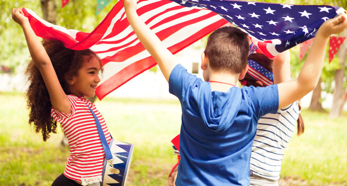 Fourth of July children