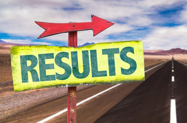results road sign illustration