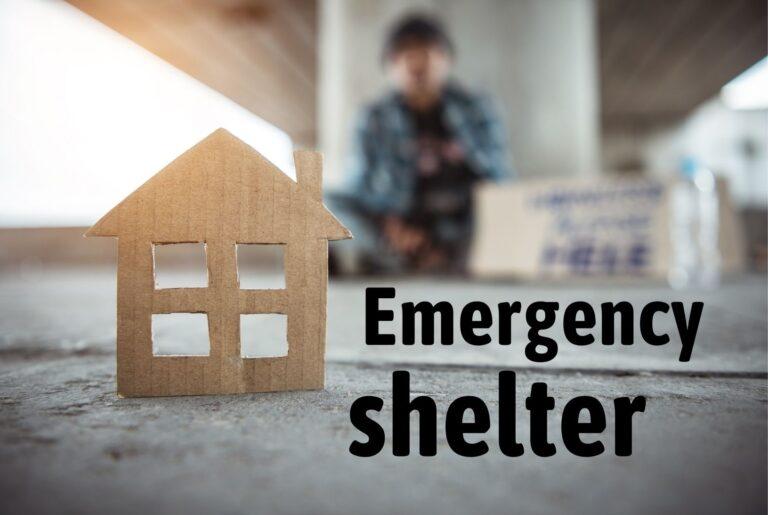 Emergency shelter photo illustration