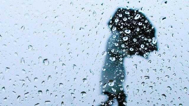 Rain person with umbrella