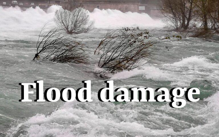 flood damage photo illustration