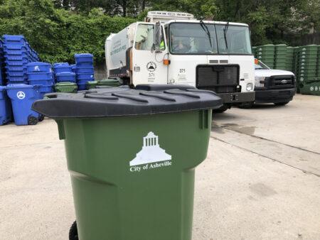Asheville bear trash cart
