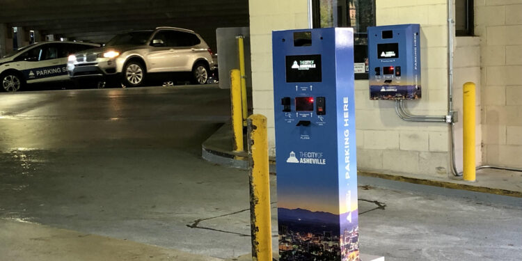 Asheville Parking pay stations
