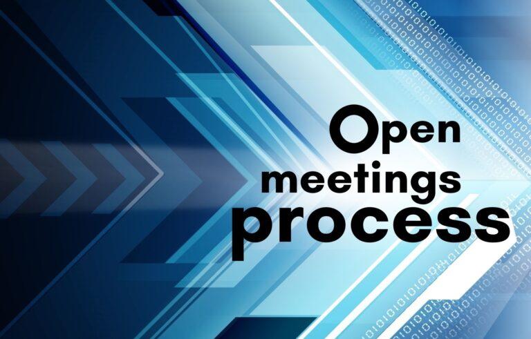 Open meetings graphic