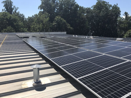 solar panels at Fire Station 10